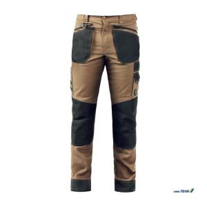 Active Brown/Black παντελόνι εργασίας slim fit
