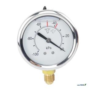 Βακόμετρο κενού γλυκερίνης ανοξείδωτο 1/2 Φ 80